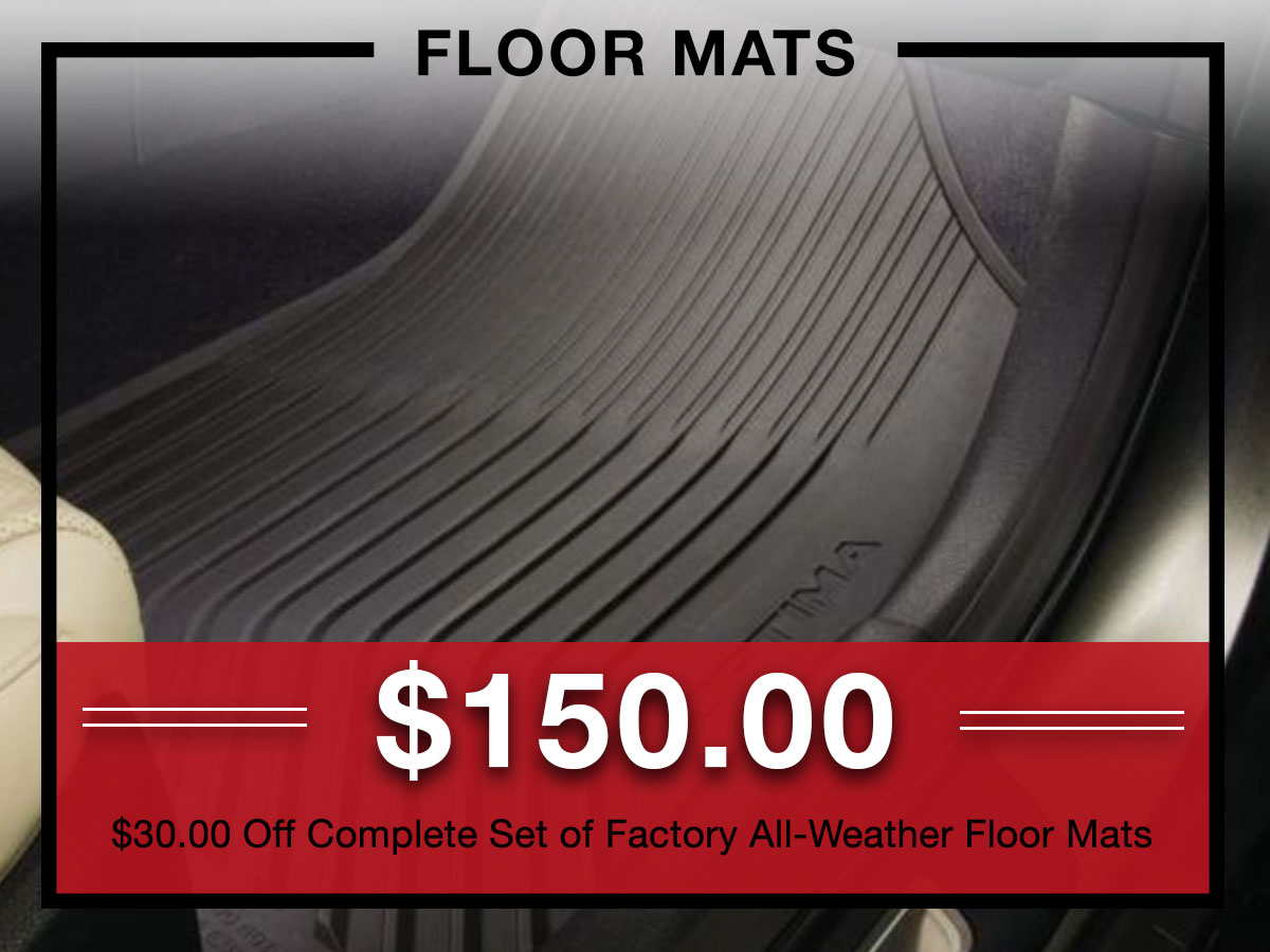 Kia factory floor mat coupon from Briggs Kia