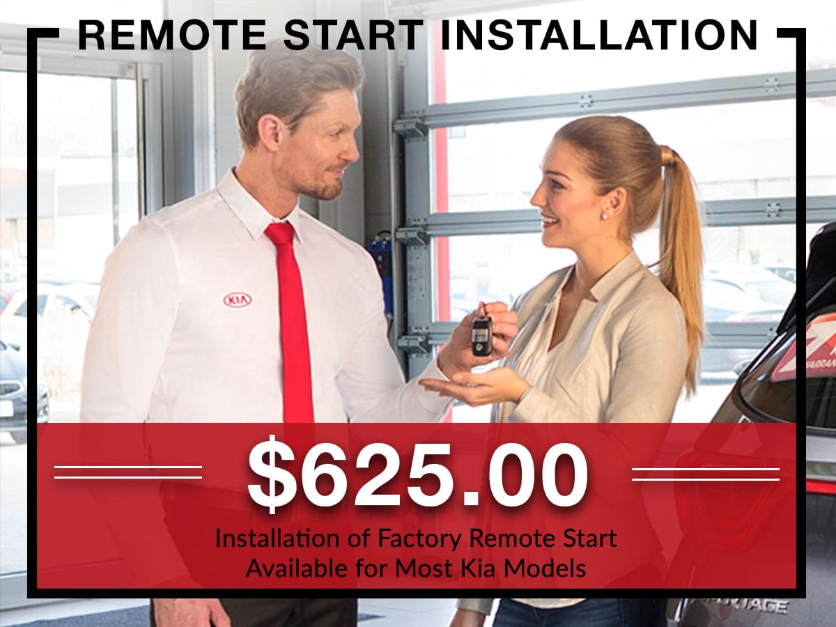 Remote start installation coupon from Briggs Kia