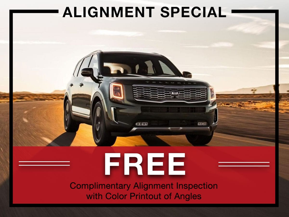 Four wheel alignment special from Briggs Kia
