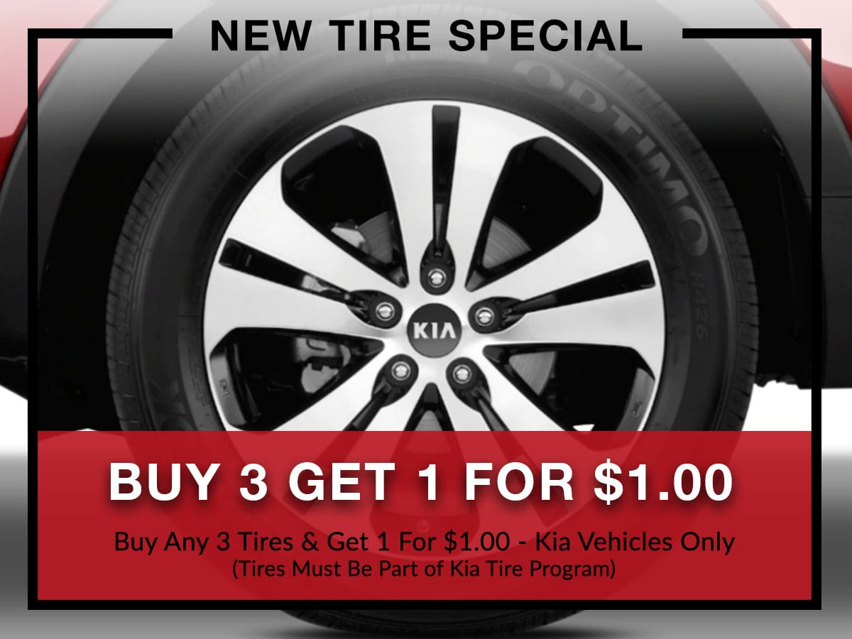 New tire special at Briggs Kia