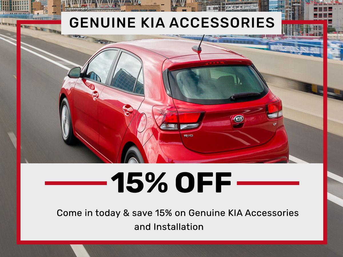 Genuine Kia Accessories special service