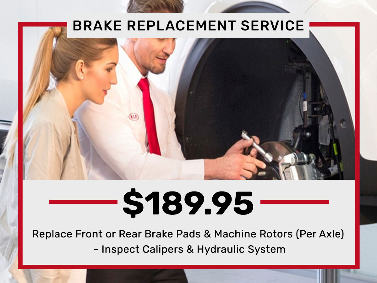 Front or Rear Brake Replacement Service Special