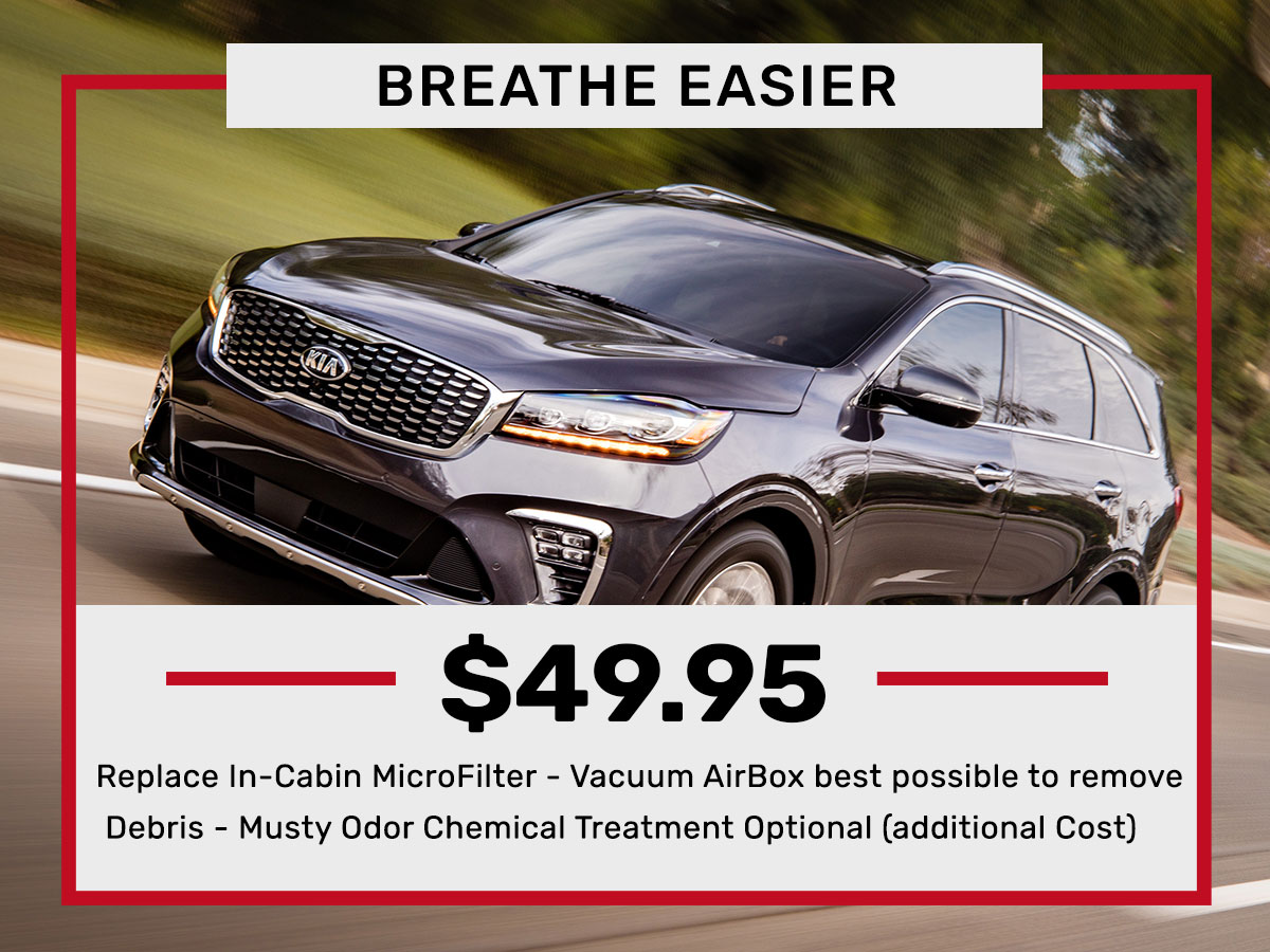 Cabin Air Filter Cost >> Cabin Air Filter Replacement Service Carriage Kia Of Woodstock