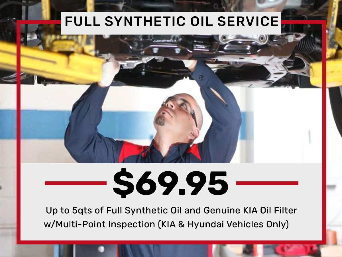 Synthetic Oil Change Service Special