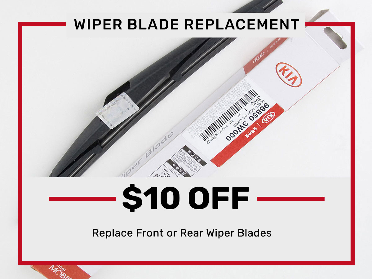 Wiper Blade Replacement Service Special