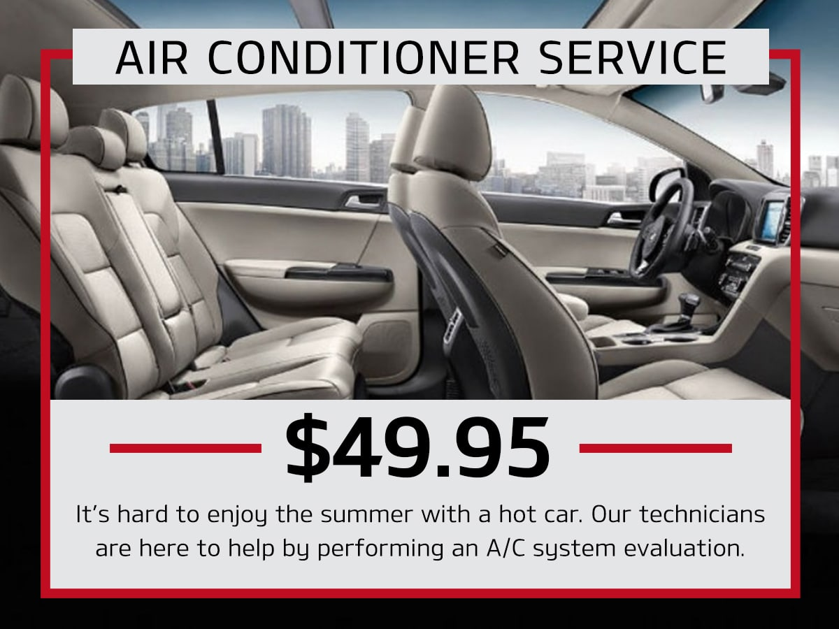 Julio Jones Kia Air Conditioner Service Coupon