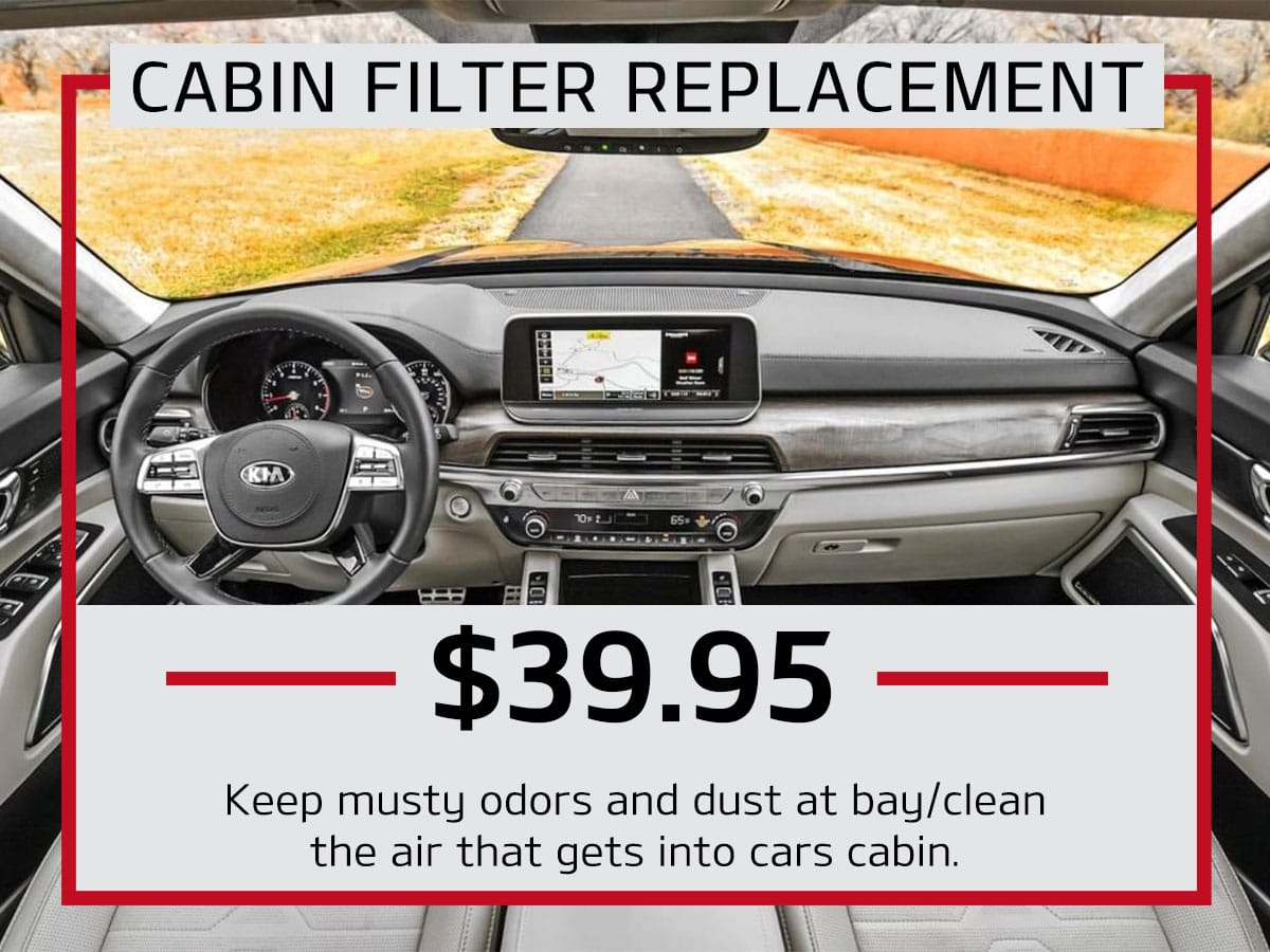Julio Jones Kia Cabin Filter Replacement Coupon
