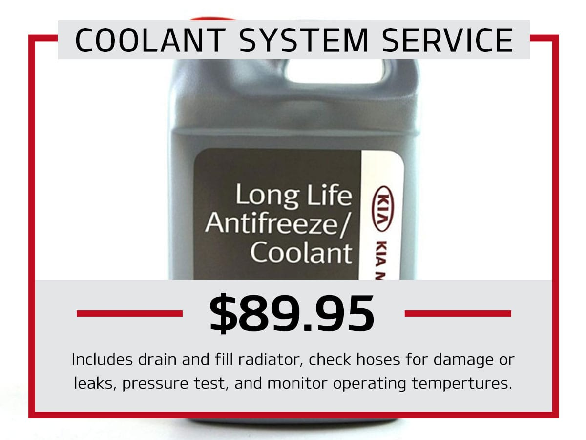 Julio Jones Kia Coolant System Service Coupon