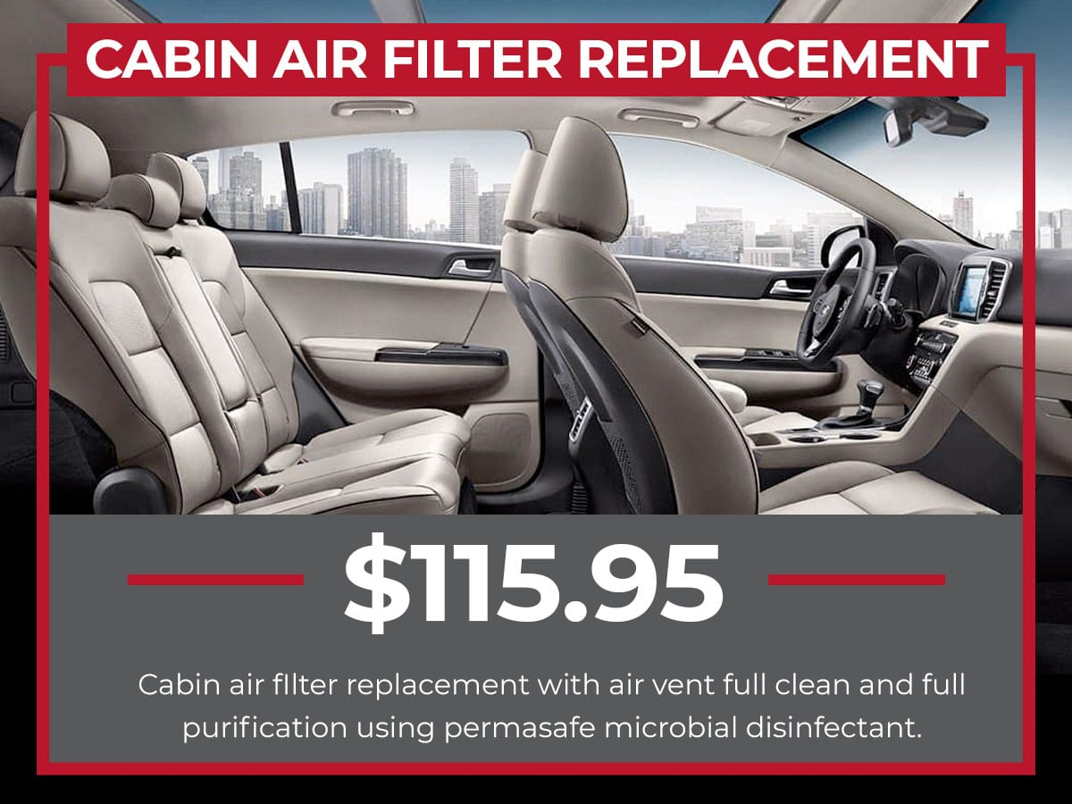 Kia Cabin Air Filter Replacement Service Coupon Raceway Kia Freehold, NJ