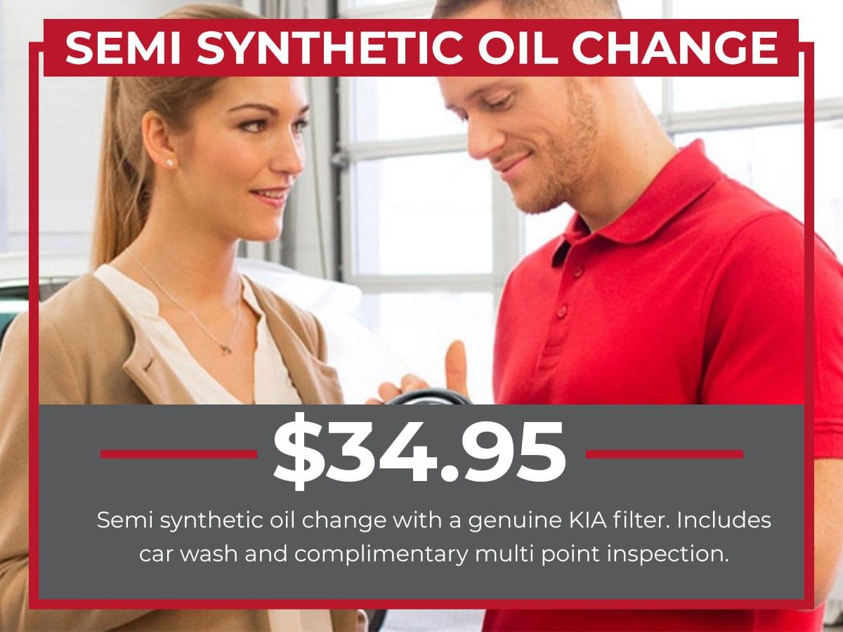 Raceway Kia Semi Synthetic Oil Change Service Freehold, NJ