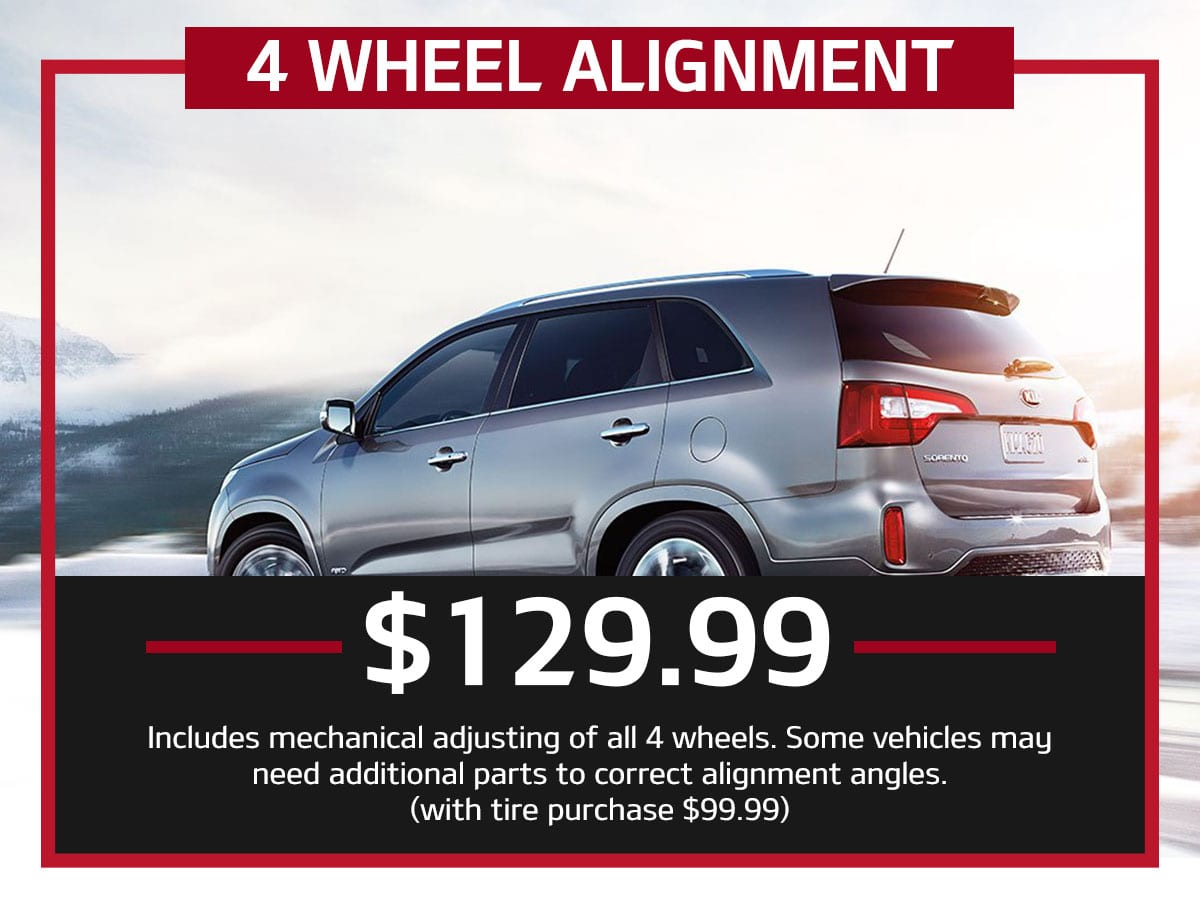 Suntrup Kia 4 Wheel Alignment Special Coupon St. Louis, MO