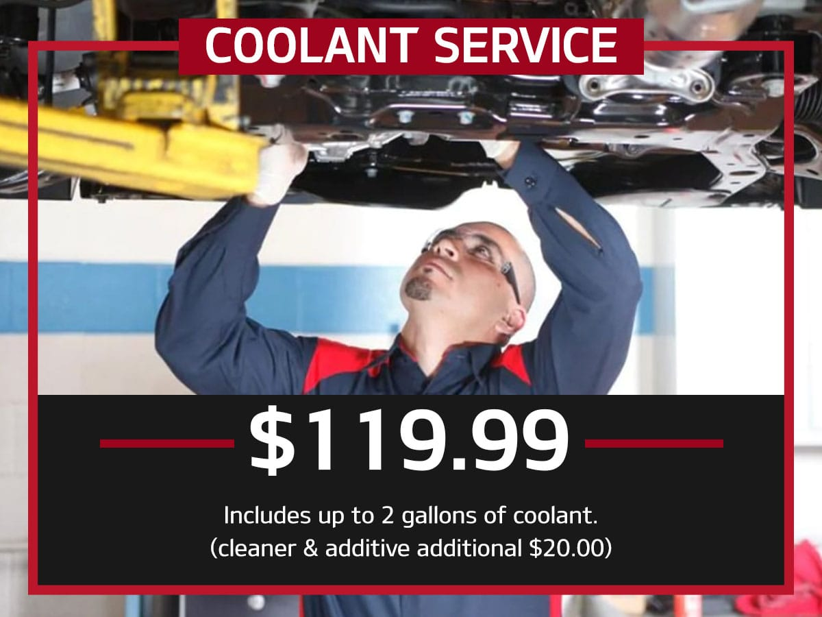 Coolant Service Special Coupon