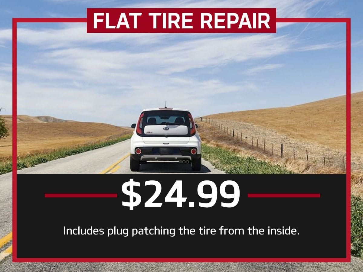 Suntrup Kia Flat Tire Repair Service Special Coupon St. Louis, MO