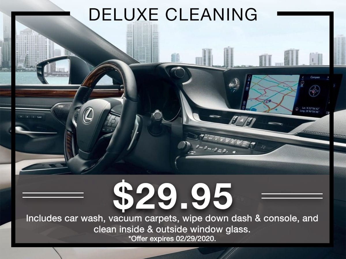 Deluxe Cleaning Service Special Coupon Germain Lexus of Dublin