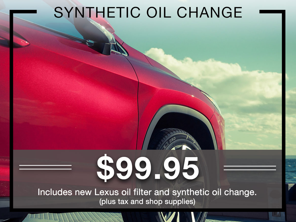 Synthetic Oil Change Service Special Coupon Germain Lexus of Dublin