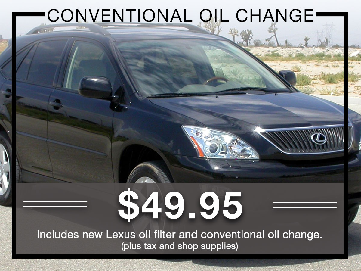 Conventional Oil Change Service Special