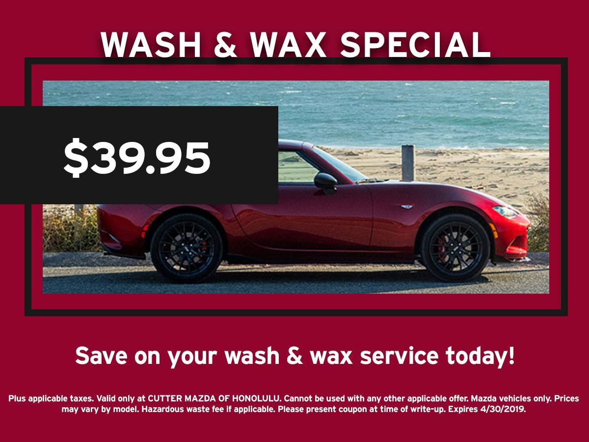 Mazda Wash and Wax Special Coupon