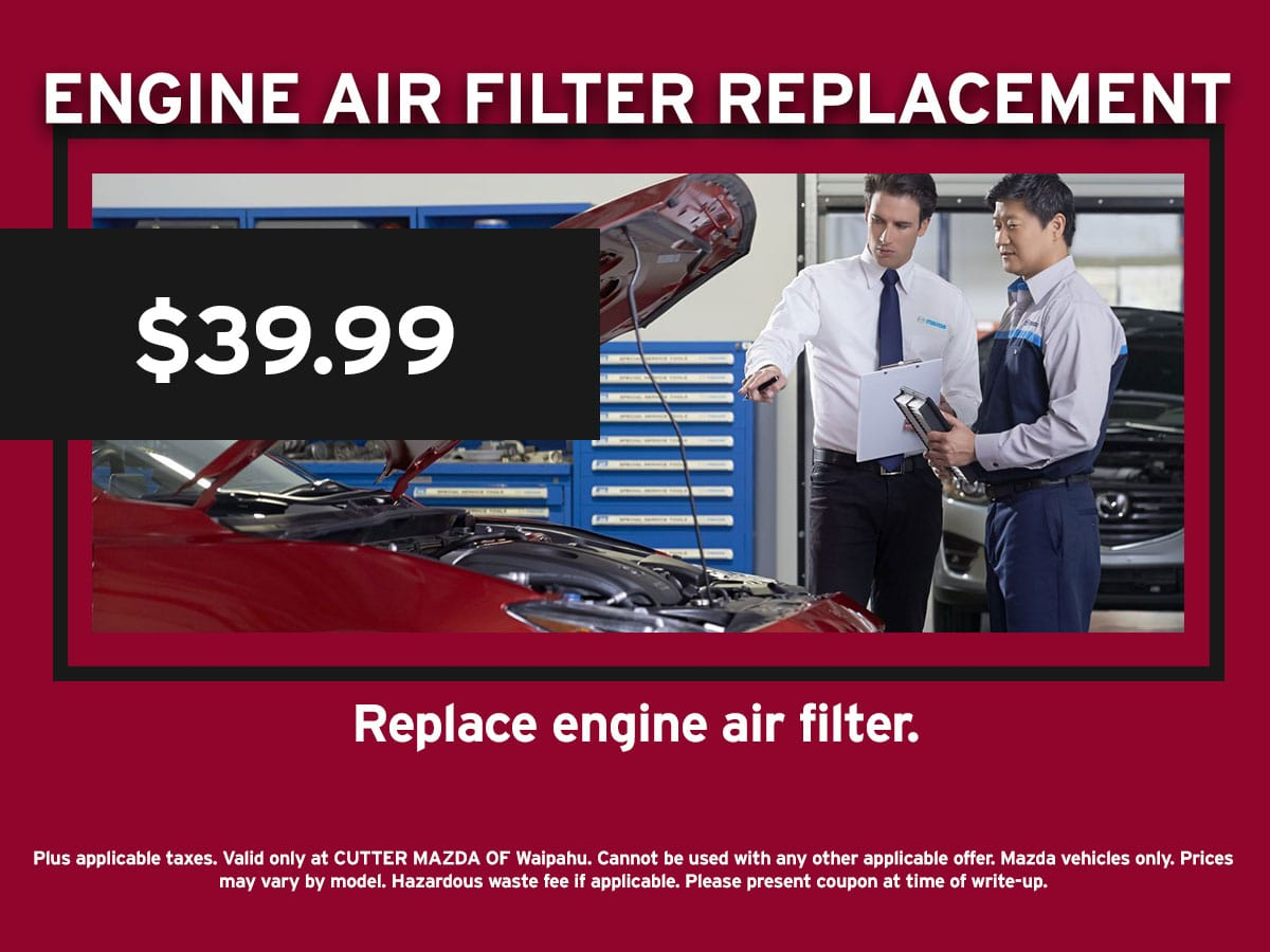 Engine Air Filter Replacement Special Coupon