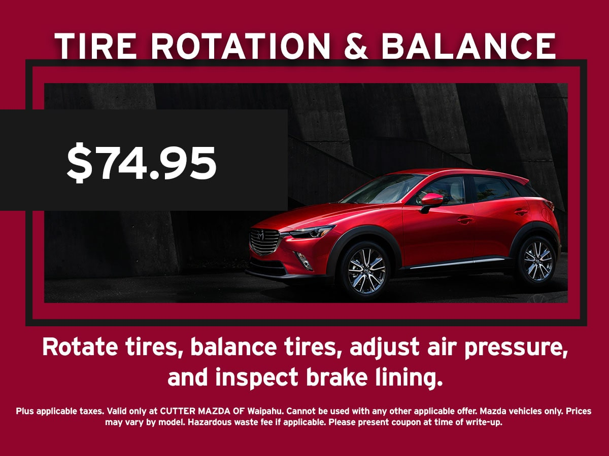 Tire Rotation and Balance Special Coupon