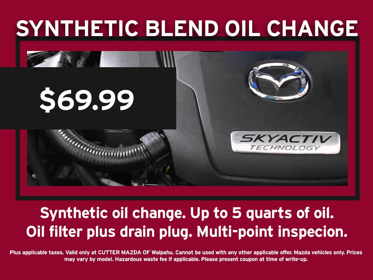 Synthetic Blend Oil Change Mazda Special Coupon