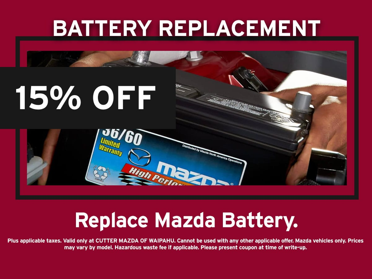 Mazda Battery Replacement Special Coupon