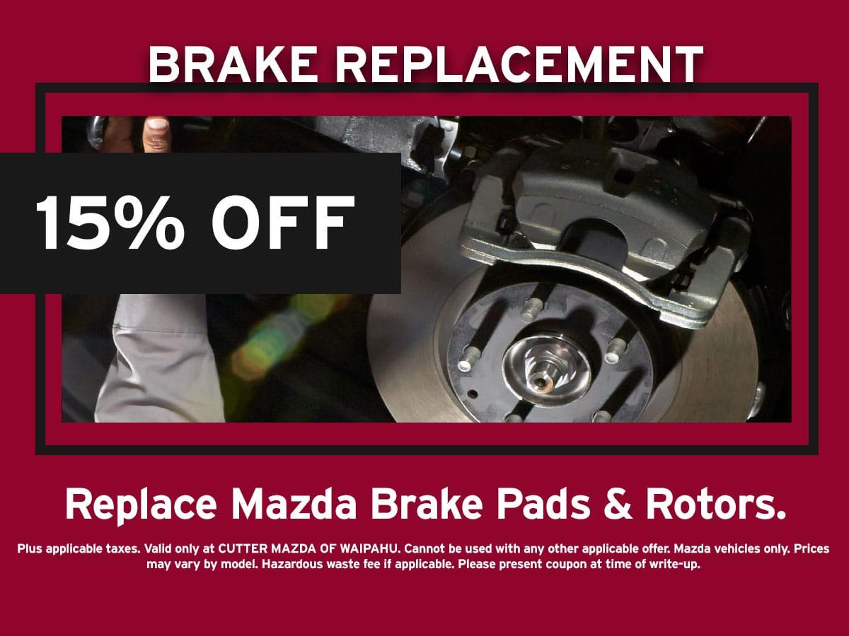 Mazda Brake Replacement Special Coupon