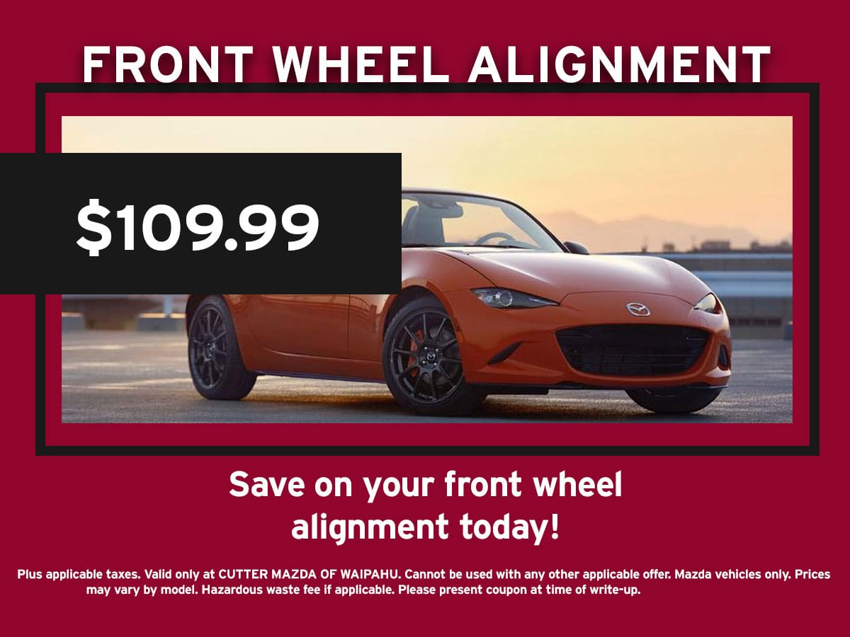 Front Wheel Alignment Coupon Special