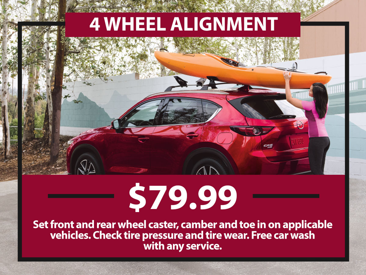 Four Wheel Alignment Coupon from Hiley Mazda of Burleson
