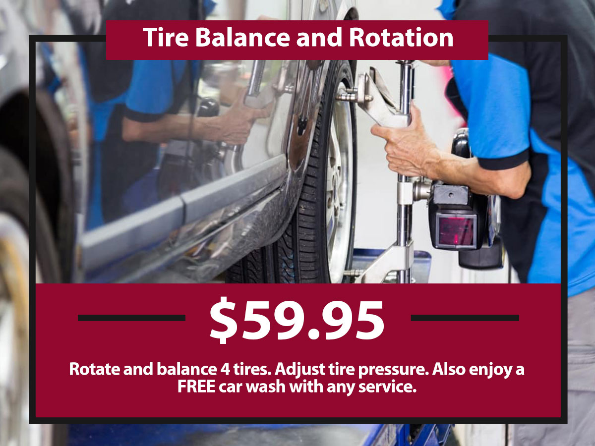 Tire Balance & Rotation Coupon from Hiley Mazda of Burleson