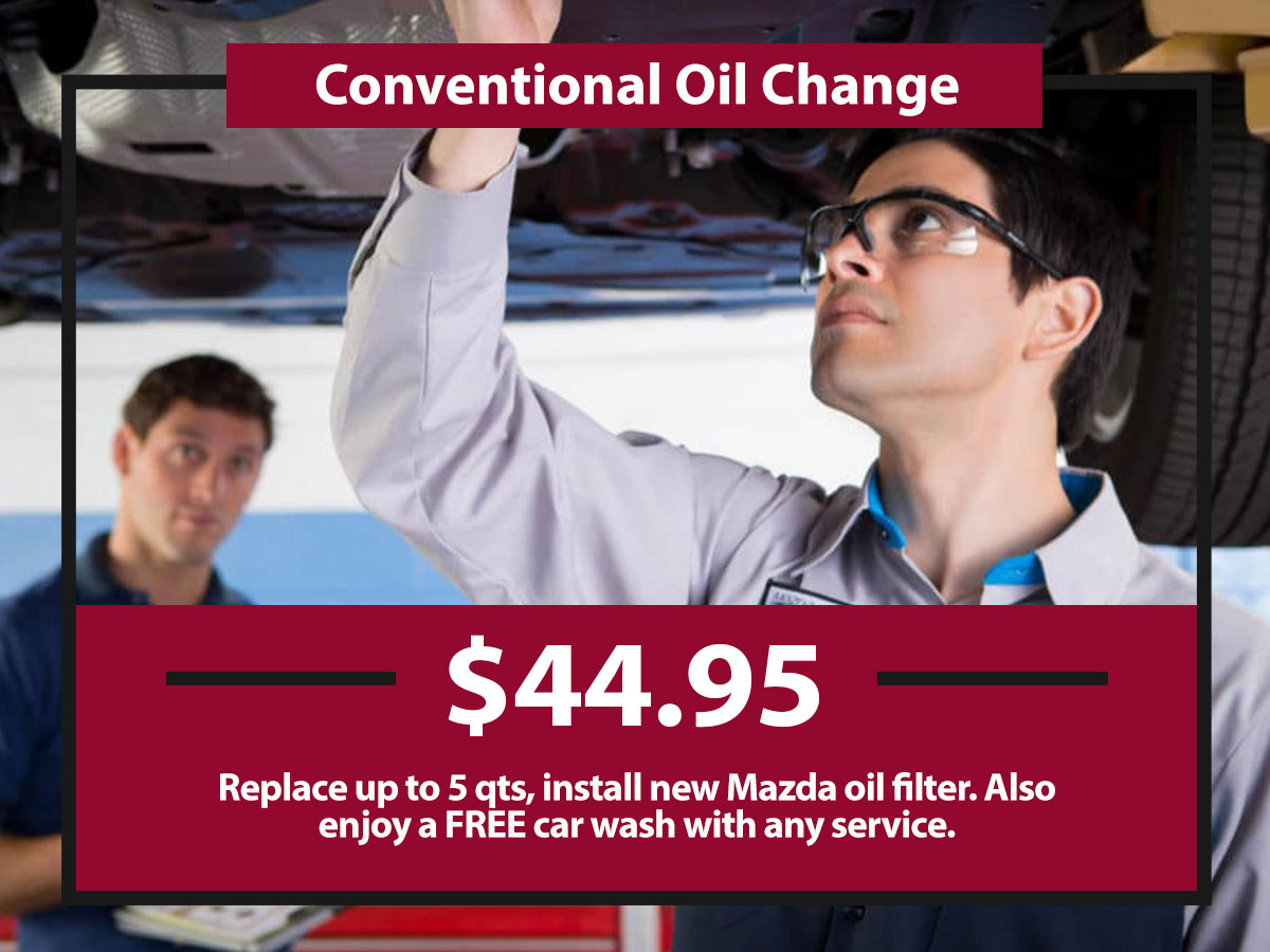 Conventional Oil Change Coupon from Hiley Mazda of Burleson