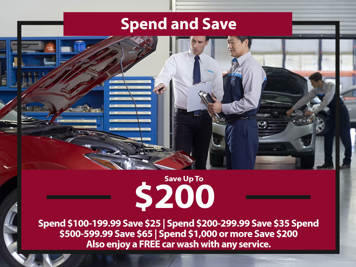 Service Savings Coupon from Hiley Mazda of Burleson
