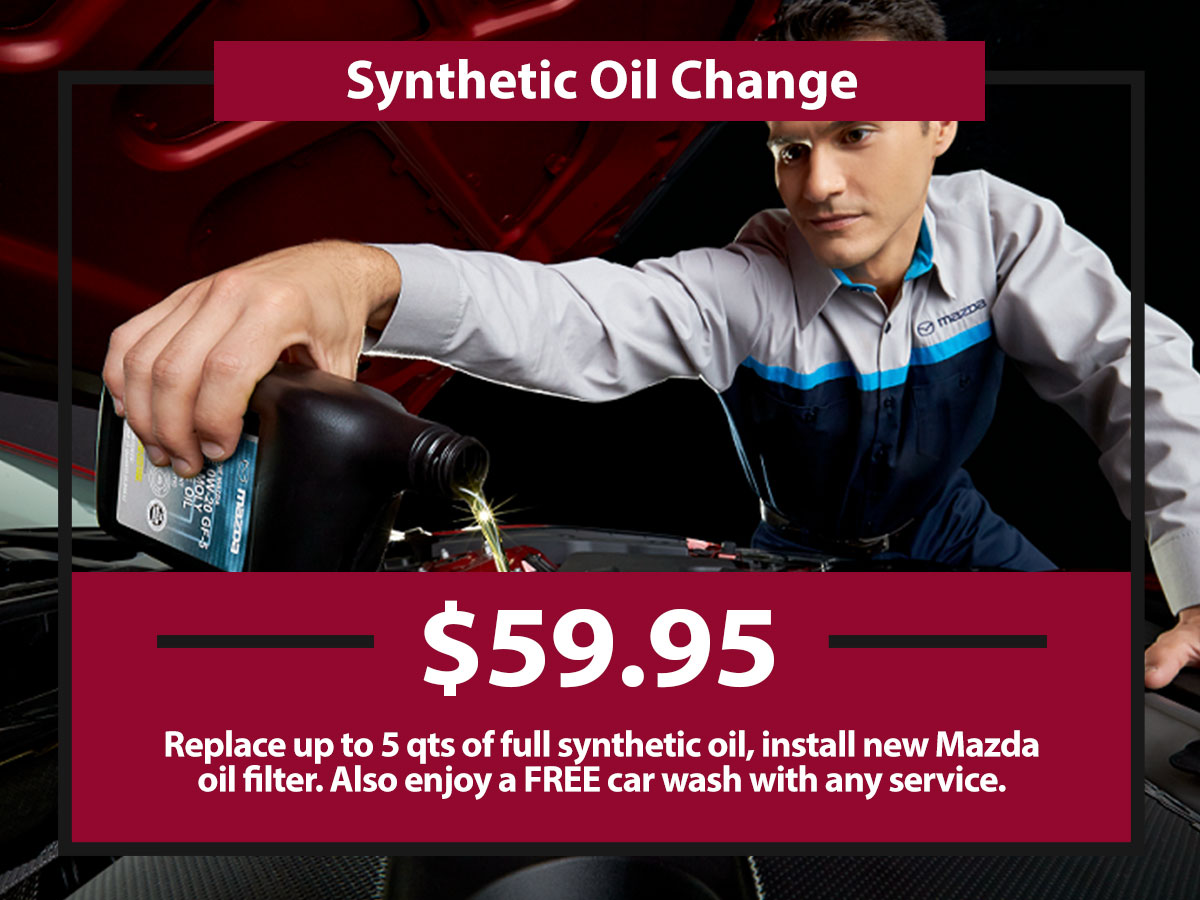 Synthetic Oil Change Coupon from Hiley Mazda of Burleson