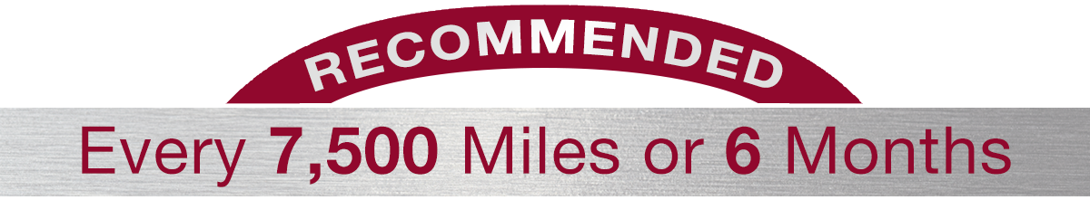 Hiley Mazda of Burleson Recommends Every 7,500 Miles or 6 Months