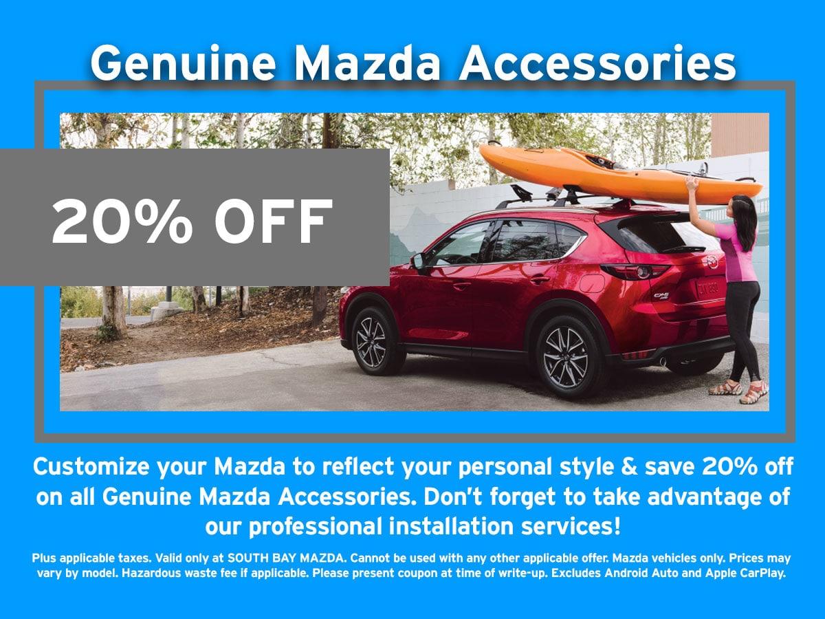 Mazda Accessories Dicscount Special Coupon