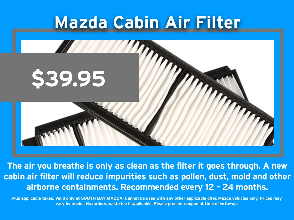 Mazda Cabin Air Filter Coupon