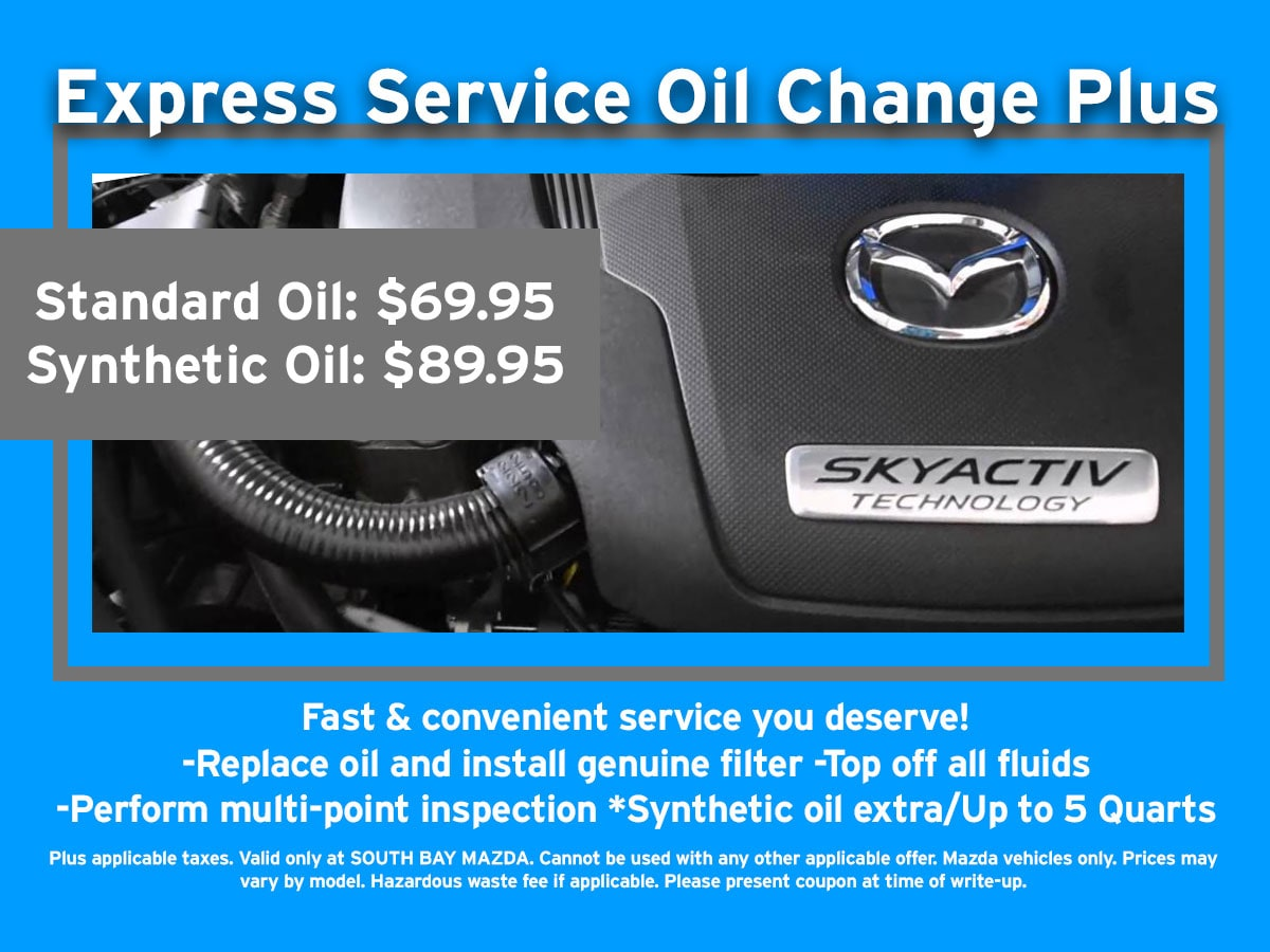Mazda Auto Service & Oil Change Specials | South Bay Mazda