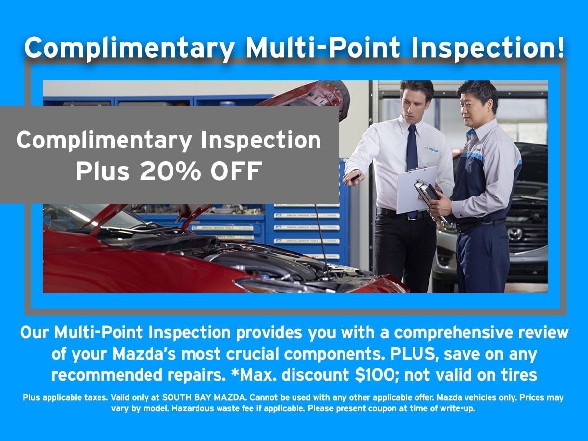 Mazda Complimentary Multi-Point Inspection Special