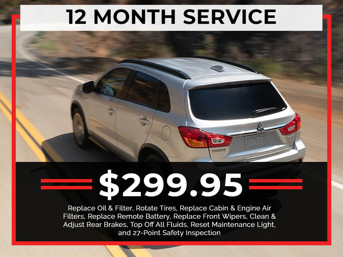 12 Month Service Coupon from Brooklyn Mitsubishi