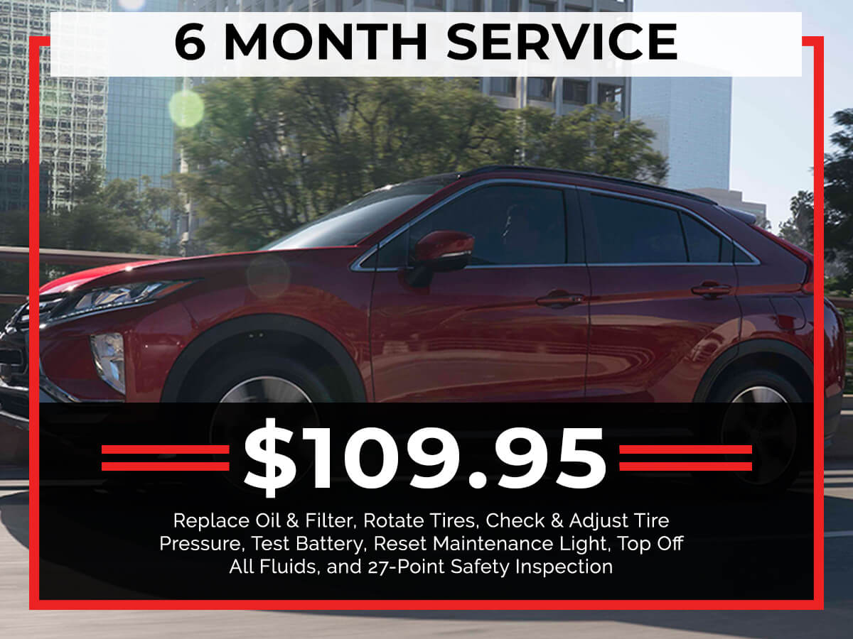 6 Month Service Coupon from Brooklyn Mitsubishi