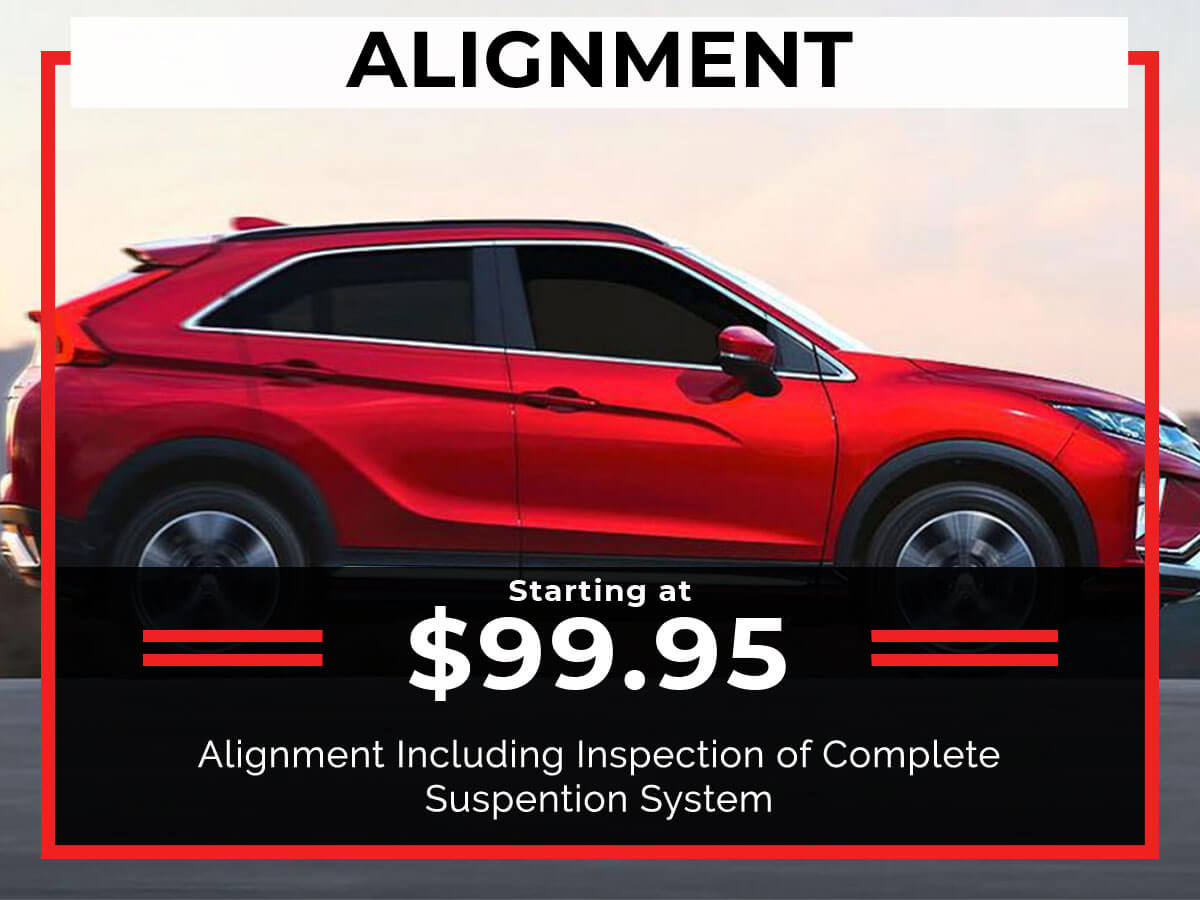 Wheel Alignment Service Coupon from Brooklyn Mitsubishi
