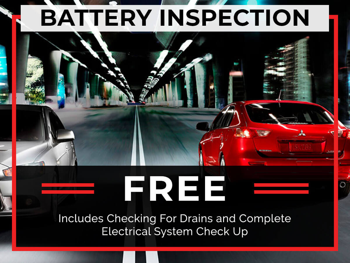 Car Battery Service Coupon from Brooklyn Mitsubishi