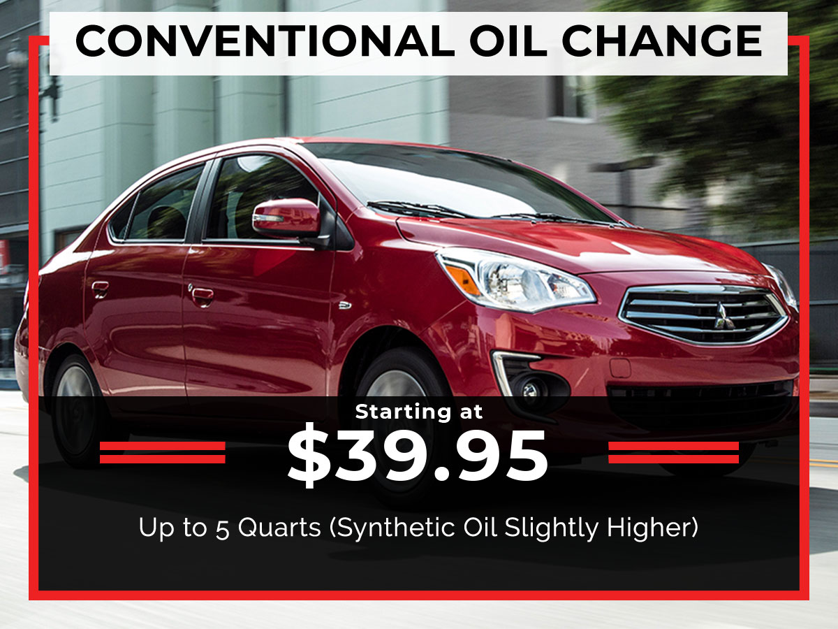 Brooklyn Mitsubishi Conventional Oil Change Coupon