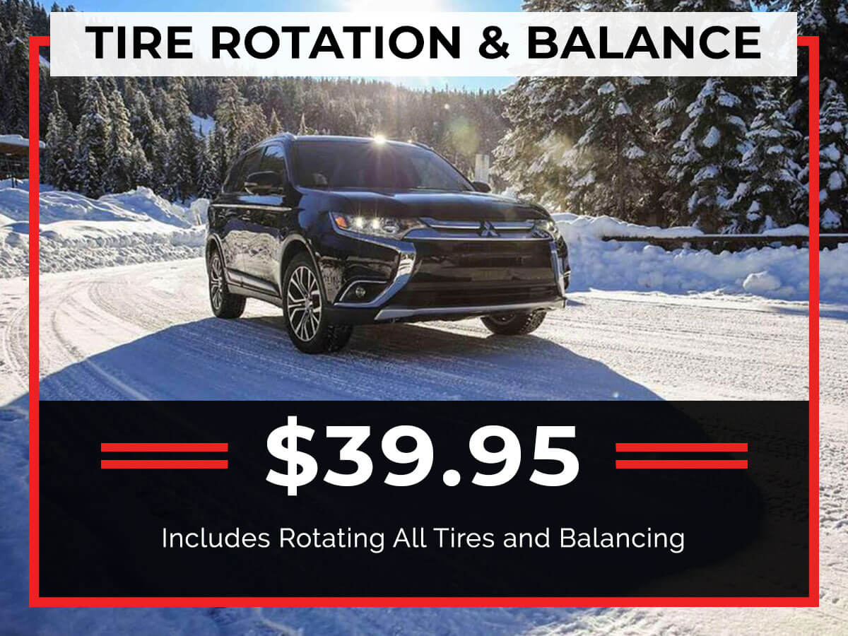 Tire Rotation and Balance Service Coupon from Brooklyn Mitsubishi