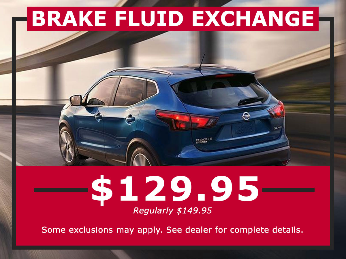 Brake Fluid Exchange Coupon from Lang Nissan Mission Bay