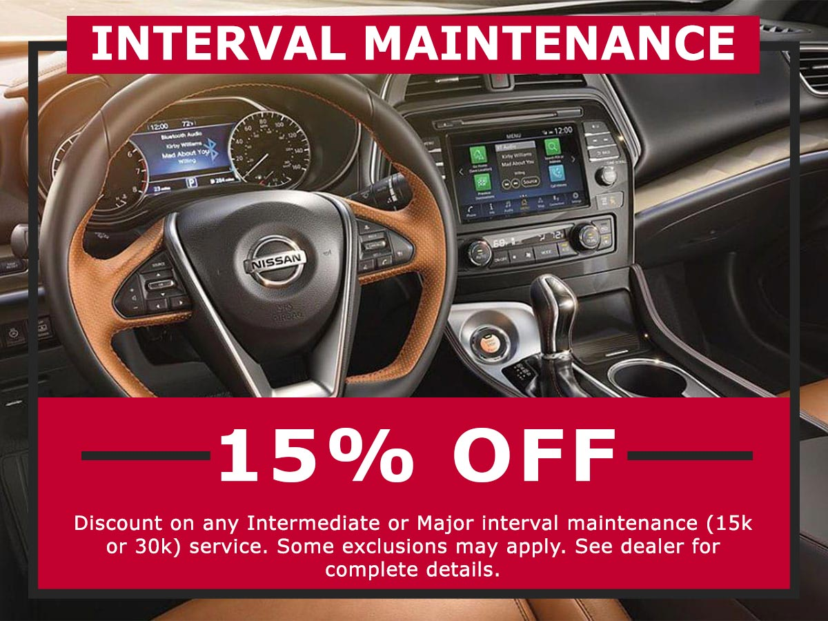 Interval Maintenance Coupon from Lang Nissan Mission Bay