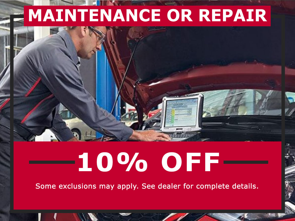 Maintenance or Repair Coupon from Lang Nissan Mission Bay