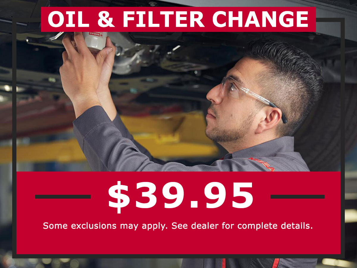 Oil and Filter Change Coupon from Lang Nissan Mission Bay