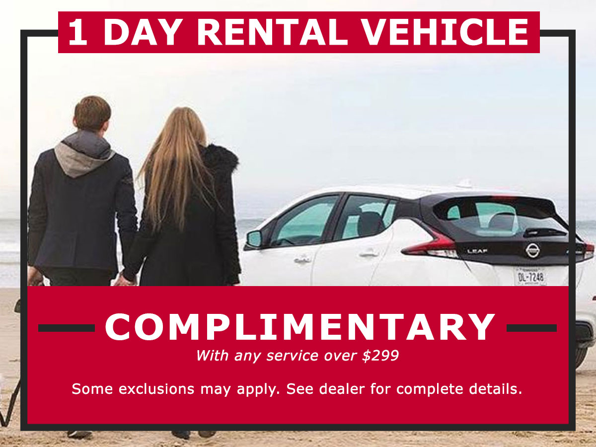 One Day Rental Vehicle Coupon from Lang Nissan Mission Bay
