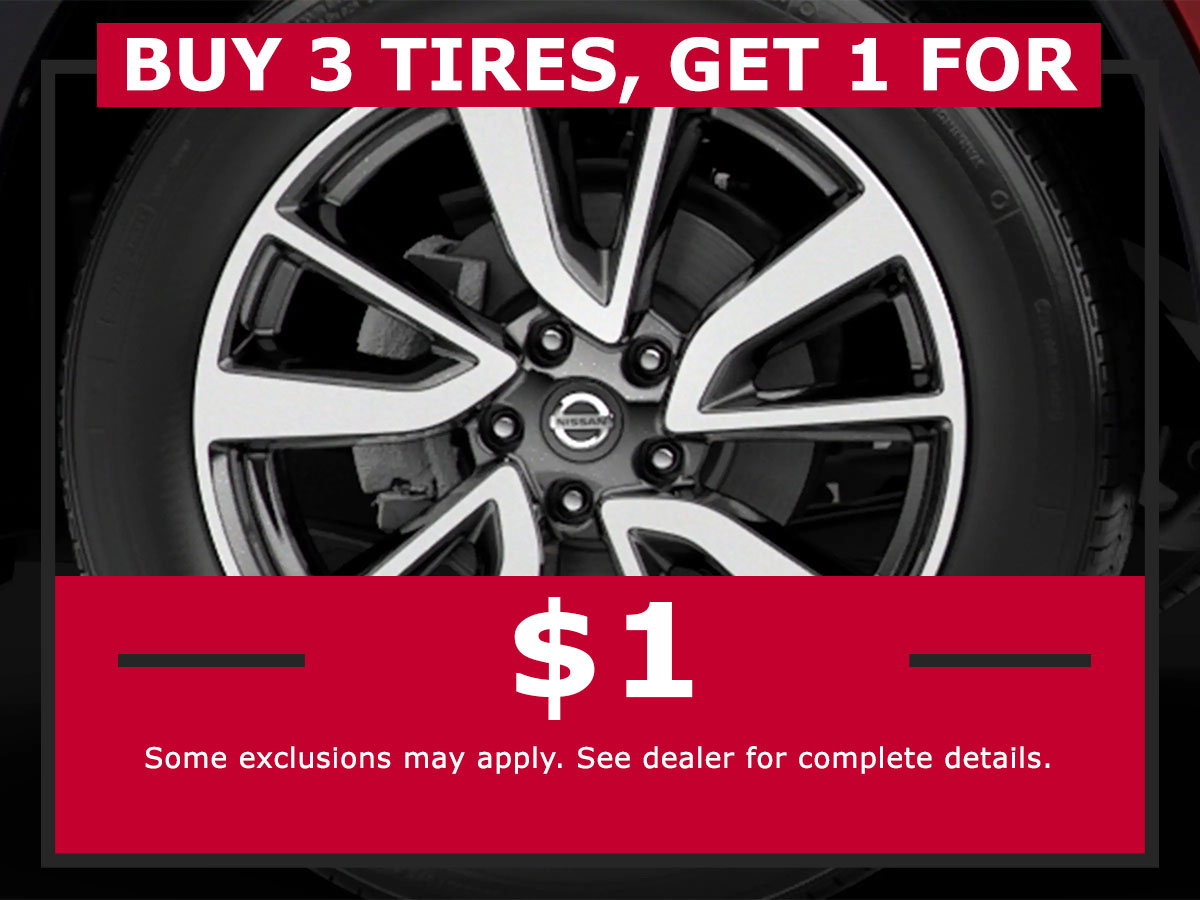 Tire Special Coupon from Lang Nissan Mission Bay
