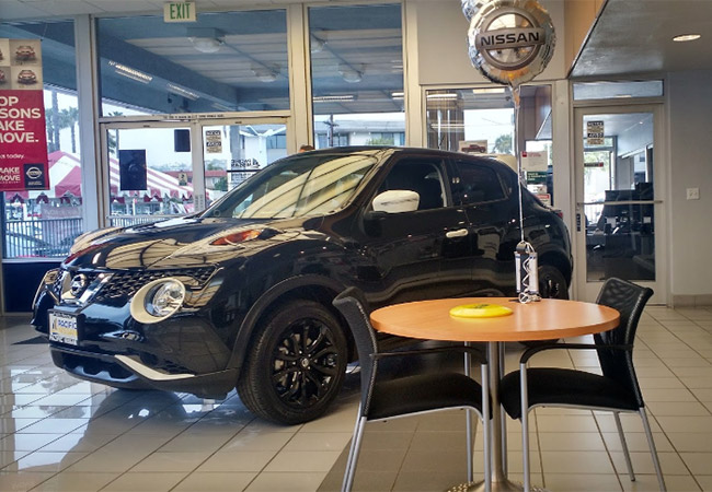 Inside Lang Nissan Mission Bay - Black Nissan Rogue
